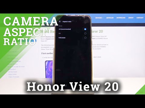 How to Change Aspect Ratio on Honor View 20 - Image's Width and Height
