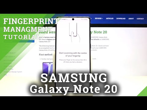 How to Add Fingerprint in SAMSUNG Galaxy Note 20 - Set Up Screen Lock