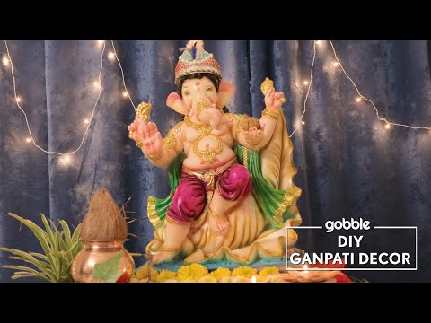 Gobble | DIY Ganpati Decor | Easy Ganesha Decoration  | Easy Decor At Home