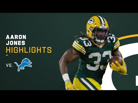 Aaron Jones Won Someone a Fantasy Game Tonight vs. Detroit Lions | Week 2 Highlights