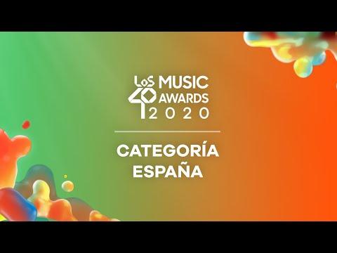 CATEGORÍA ESPAÑA: Nominados a LOS40 Music Awards 2020