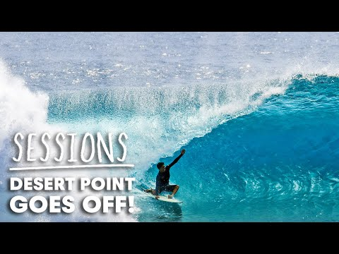 Watch Endless Barrels Spin At Indonesia's Desert Point | Sessions
