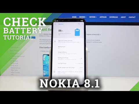 How to Check Battery Percentage in NOKIA 8.1 – Show Battery Info