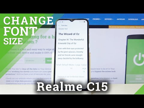 How to Change Font Style in REALME C15 – Find Font Settings