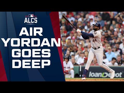 AIR YORDAN! Alvarez CRUSHES home run off Chris Sale! (Gives Astros early 1-0 lead)