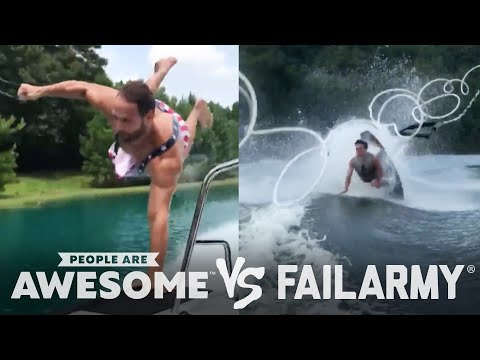 Wake Surfing Wipeouts & More | People Are Awesome Vs. FailArmy