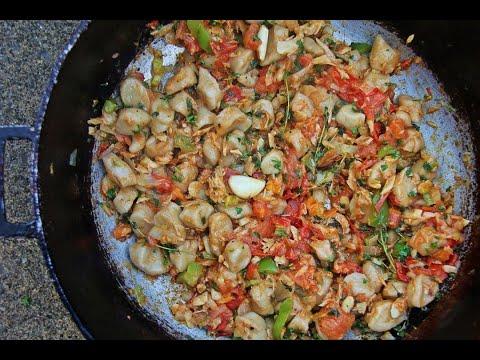 Cassava Dumplings In Stewed Saltfish (salted Cod)   CaribbeanPot.com