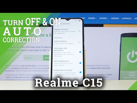 How to Set Auto Correction in REALME C15 – Find Correction Settings