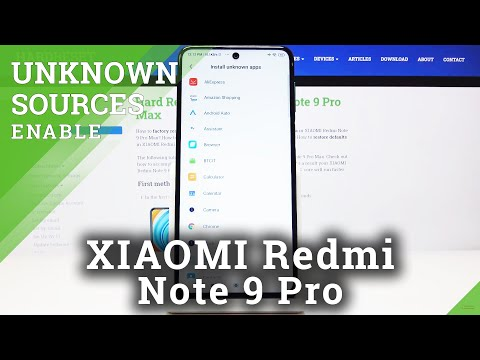 How to Download Apps from Unknown Sources on XIAOMI Redmi Note 9 Pro - Apps Installation