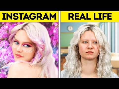 INSTAGRAM VS. REALITY || Testing Viral Internet Hacks To Show You If They Work