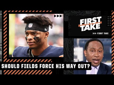 Stephen A. answers: Should Justin Fields force his way out of Chicago? | First Take