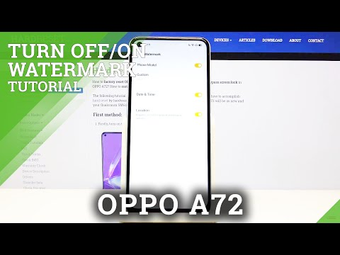 How to Activate Camera Watermark in Oppo A72 - Mark Your Photos