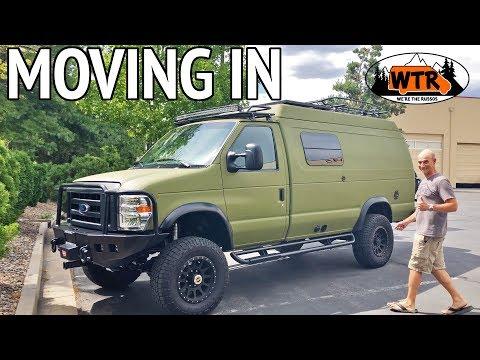 Moving in to a Sportsmobile Classic 4x4 Pop-Top Camper Van   Van Life S2:E17