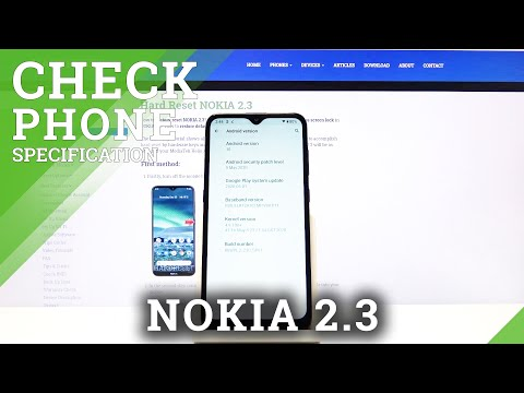 Where Can I Find Phone Specifications on Nokia 2.3 – Device Information