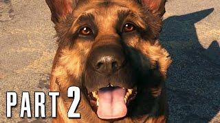 Fallout 4 Walkthrough Gameplay Part 2 Dogmeat PS4