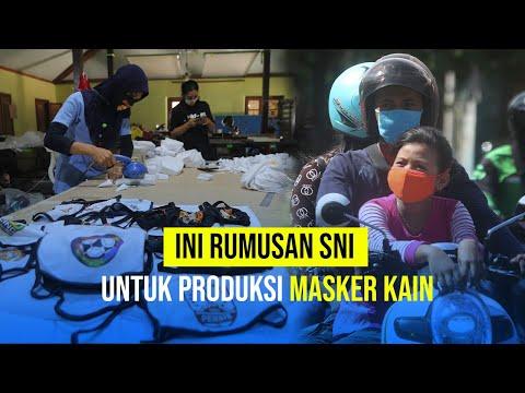 Ini Rumusan SNI untuk Produksi Masker Kain