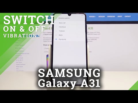 How to Personalize Vibrations in Samsung Galaxy A31 - Set Up Vibration Pattern