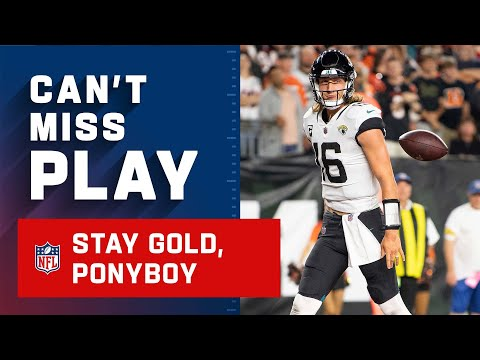 Stay Gold, Ponyboy, Stay Gold | Trevor Lawrence Getting Some Revenge on Joe Burrow with Rushing TD