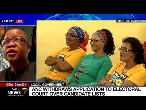 ANC's decision to withdraw application to the Electoral Court: Dakota Legoete