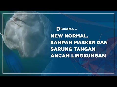 New Normal, Sampah Masker dan Sarung Tangan Ancam Lingkungan | Katadata Indonesia