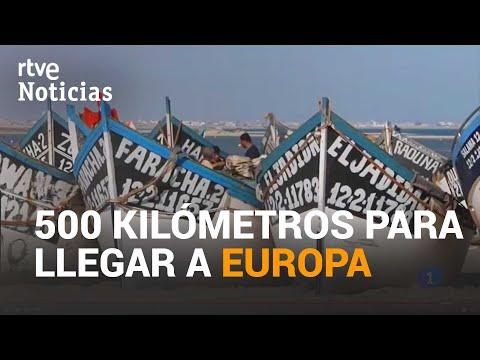 Desde MAURITANIA los MIGRANTES realizan un peligroso viaje de 48 horas con el motor a todo gas| RTVE