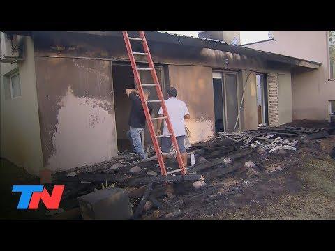 Incendió en Villa Gesell: así quedó una de las casas