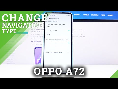 How to Change Navigation Bar in OPPO A72 - Turn On Gesture Navigation Bar