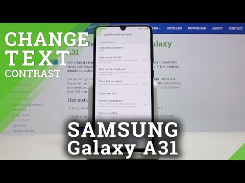 How to Activate High Contrast in SAMSUNG Galaxy A31 – Turn On / Off High Contrast