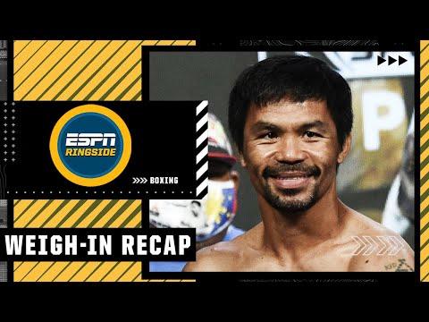 Manny Pacquiao vs. Yordenis Ugas Weigh-In Recap   ESPN Ringside