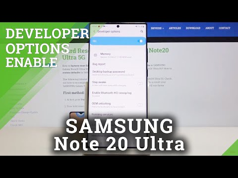 How to Activate Developer Options in SAMSUNG Galaxy Note 20 Ultra – Developer Mode