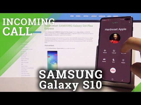 How Incoming Call Looks on Samsung Galaxy S10 Plus – Call Animation / Sound