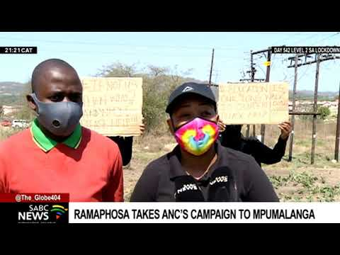 LGE 2021 | Ramaphosa takes ANC's campaign to Mpumalanga