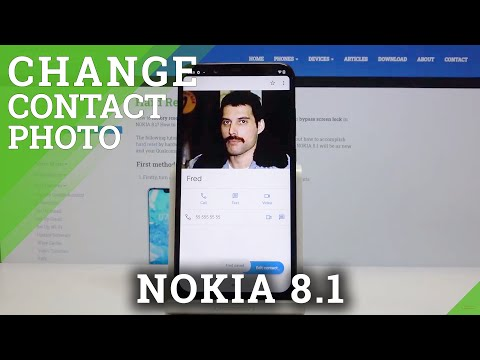 How to Add Photo to Contact in NOKIA 8.1 – Customize Profile Picture