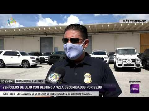 EE.UU. - Vehículos de lujo con destino a Venezuela decomisados por EE.UU. - VPItv