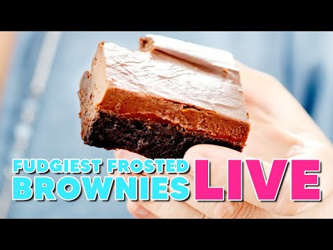The Fudgiest Frosted Brownies EVER MADE, Live with Anna Olson!