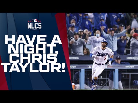 Chris Taylor strikes again, with his THIRD HOMER of the night!