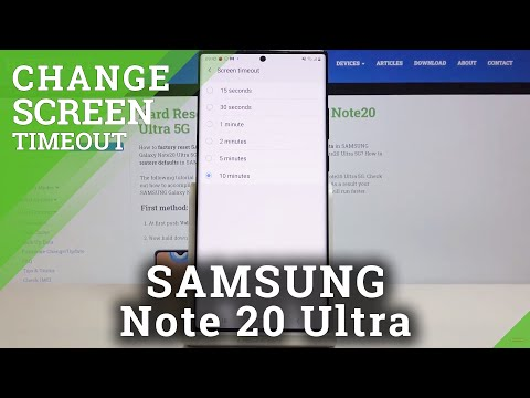 How to Set Screen Timeout in SAMSUNG Galaxy Note 20 Ultra – Find Timeout Options