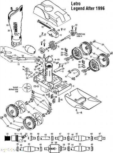 4 Pentair Letro Legend II, 4 Wheel Pool Cleaner Ribbed