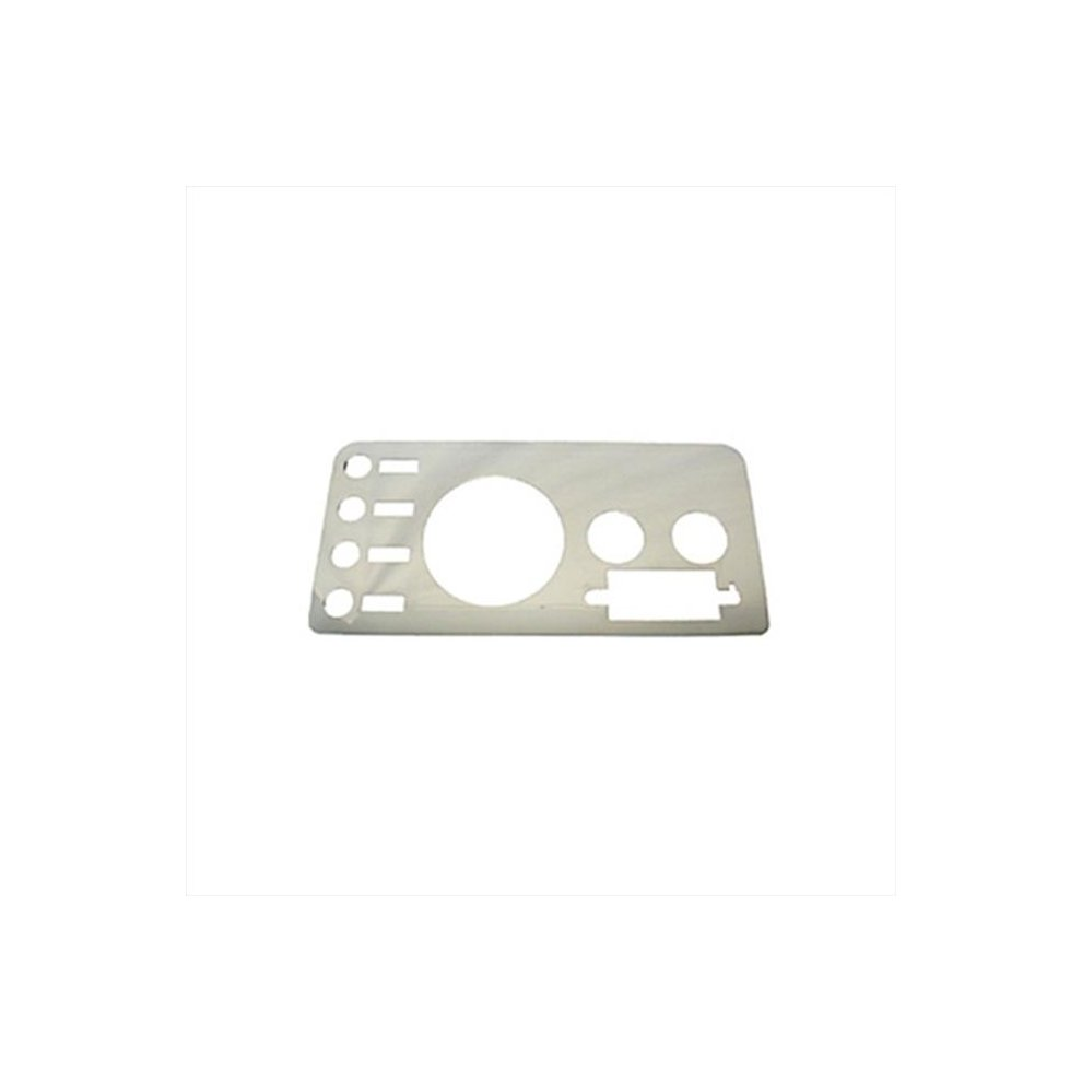 hight resolution of rugged ridge 11124 01 gauge cover stainless steel 76 86 jeep cj models on onbuy