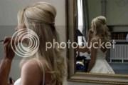 long straight hair. - wedding