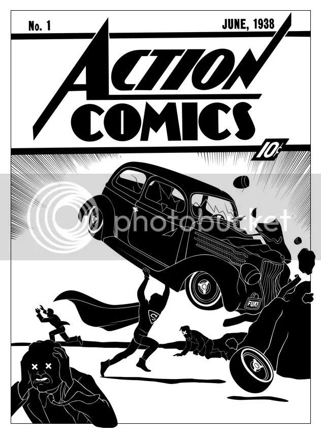 "Tom Addison reinterpreta la clásica portada que en 1938 realizara  Joe Schuster para ""Action Cómics #1"""
