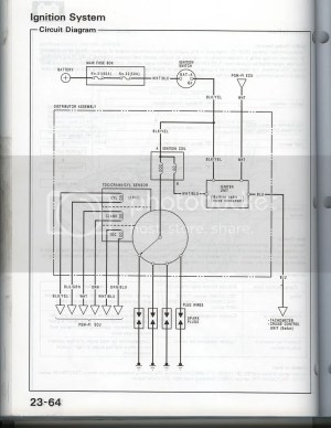 Wiring Diagram for a 91 SI (MPFI) distributor?  Honda