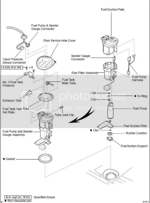 2000 Toyota echo fuel filter location