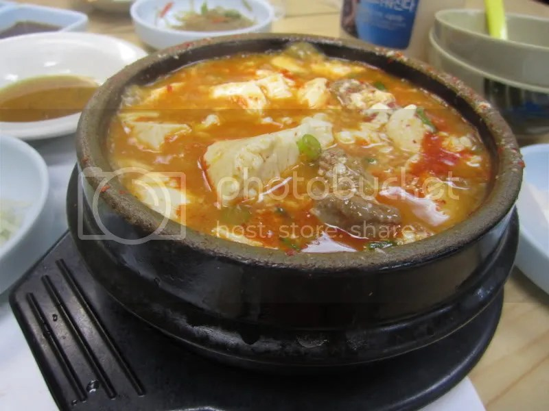 The Combination Tofu Soup Was A Little Bland For Me Since We Had Ordered Medium And It Was Not Spicy At All But There Was A Lot Of Tofu And Huge Chunks