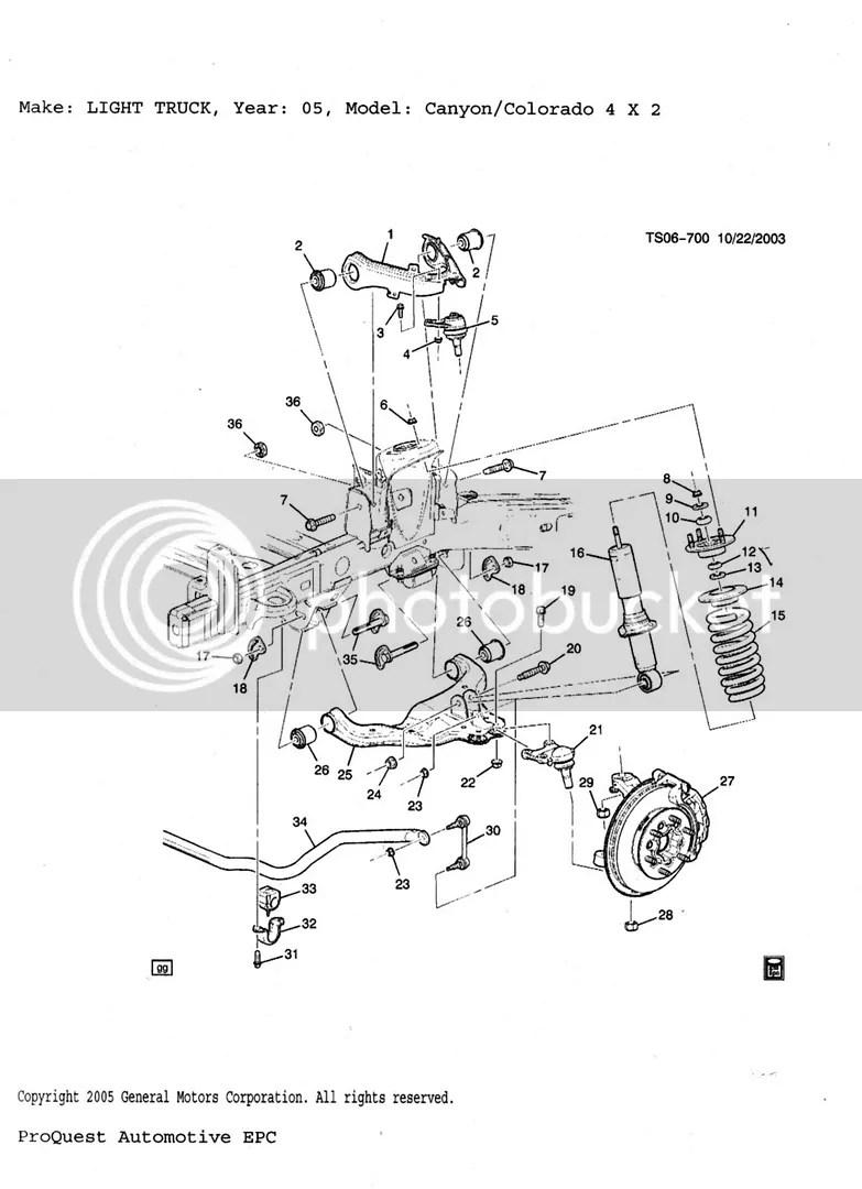hight resolution of suspension diagrams chevy colorado gmc canyon