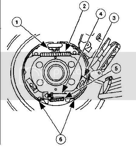 I Need A Diagram For The Rear Drum Brake For 2002 Ford
