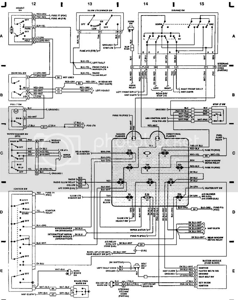 medium resolution of 1995 jeep yj wiring diagram manual transmission