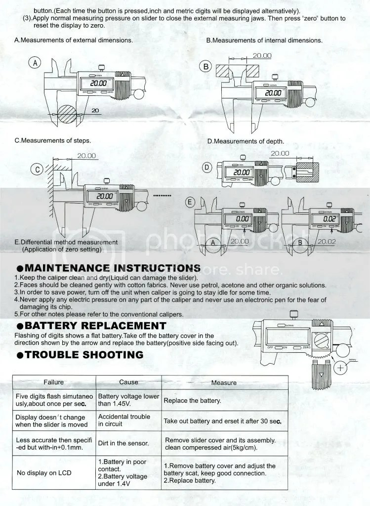 Starrett 721 Digital Caliper Manual