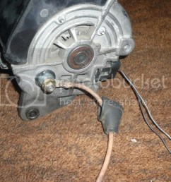 to an alternator shop and having them find me a v belt pulley roughly the same size as the generator heres some pictures thanks hate having the thing  [ 1024 x 768 Pixel ]
