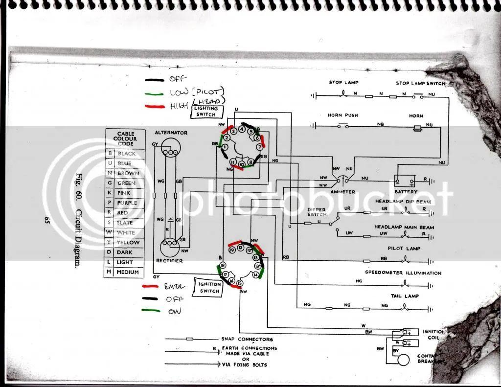 bsa a10 super rocket wiring diagram